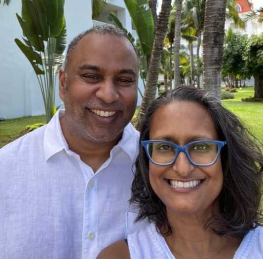 Reema Sukumaran, Author/Speaker/Coach and Her Husband Sanj